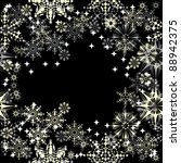 winter floral frame with... | Shutterstock .eps vector #88942375