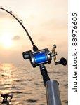 Closeup For Fishing Rod At...
