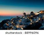 Sunset At Oia Of Santorini ...