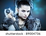 warrior woman. fantasy fashion... | Shutterstock . vector #89004736