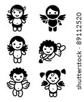 cupids set  collection angels.... | Shutterstock .eps vector #89112520