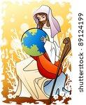 happy christian   religion... | Shutterstock .eps vector #89124199