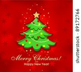 christmas tree and new year... | Shutterstock . vector #89172766