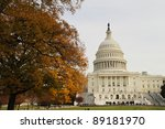 us capitol building in late fall | Shutterstock . vector #89181970
