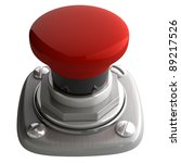 3d Illustration Of Red Button...