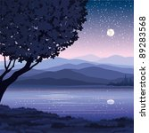 Vector Night Landscape With...