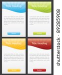 set of web boxes with space for ... | Shutterstock .eps vector #89285908
