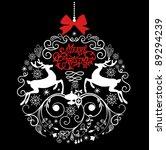 Black And White Christmas Ball...