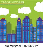 city skyline buildings vector... | Shutterstock .eps vector #89332249