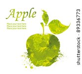 watercolor green apple isolated ...   Shutterstock . vector #89336773