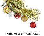 coniferous branch decorated... | Shutterstock . vector #89338963