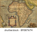 antique map of africa   by... | Shutterstock . vector #89387674