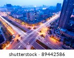 aerial view of city night | Shutterstock . vector #89442586