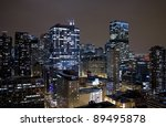 chicago buildings by night | Shutterstock . vector #89495878