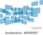 touch screen interface blue... | Shutterstock . vector #89535937
