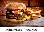 Bbq Hamburger On The Stone...