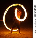Amazing Fire Show At Night On...