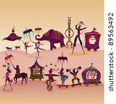 circus caravan with magician ... | Shutterstock .eps vector #89563492