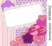 scrapbook valentine card   Shutterstock .eps vector #89588332