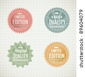 vintage  labels collection  ... | Shutterstock .eps vector #89604079