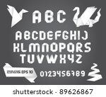 decorative origami alphabet... | Shutterstock .eps vector #89626867