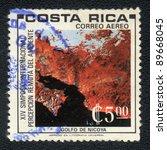 costa rica   circa 1975  a... | Shutterstock . vector #89668045