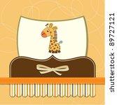 baby shower card with giraffe | Shutterstock .eps vector #89727121