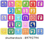 colorful lower case alphabet... | Shutterstock .eps vector #89792794
