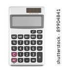 digital calculator isolated on... | Shutterstock . vector #89904841