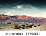 Death Valley Sand Dunes With...