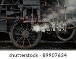 Vintage Steam Locomotive Detail