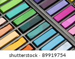 box used pastels of many... | Shutterstock . vector #89919754