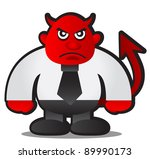 illustration of devil boss - stock vector