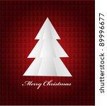 christmas tree | Shutterstock .eps vector #89996677