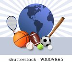 sports concept background with... | Shutterstock .eps vector #90009865