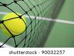 tennis ball in net | Shutterstock . vector #90032257