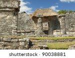 Mayan Ruins Of Tulum  Yucatan...