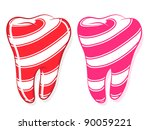 Candy Striped Teeth Depicting...