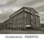 abandoned factory building in...