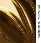 golden silk   elegant abstract... | Shutterstock . vector #90092083