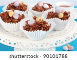 Easter Chocolate Crispy Cakes...