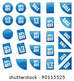 set of blue sales signs | Shutterstock .eps vector #90115525