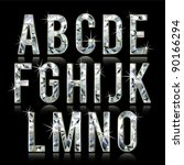 Diamond Alphabet Letters