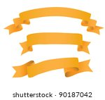 Ribbon collection. Vector. - stock vector