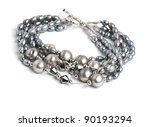Expensive beautiful bracelet on the white isolated background - stock photo