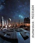 modern city skyline on taris ...   Shutterstock . vector #90231604