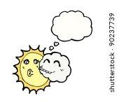 sun and cloud cartoon | Shutterstock .eps vector #90237739