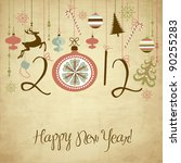 2012 happy new year background.   Shutterstock .eps vector #90255283