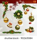 christmas vector set of fir... | Shutterstock .eps vector #90265084