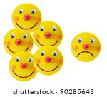 smiley toys on white background | Shutterstock . vector #90285643